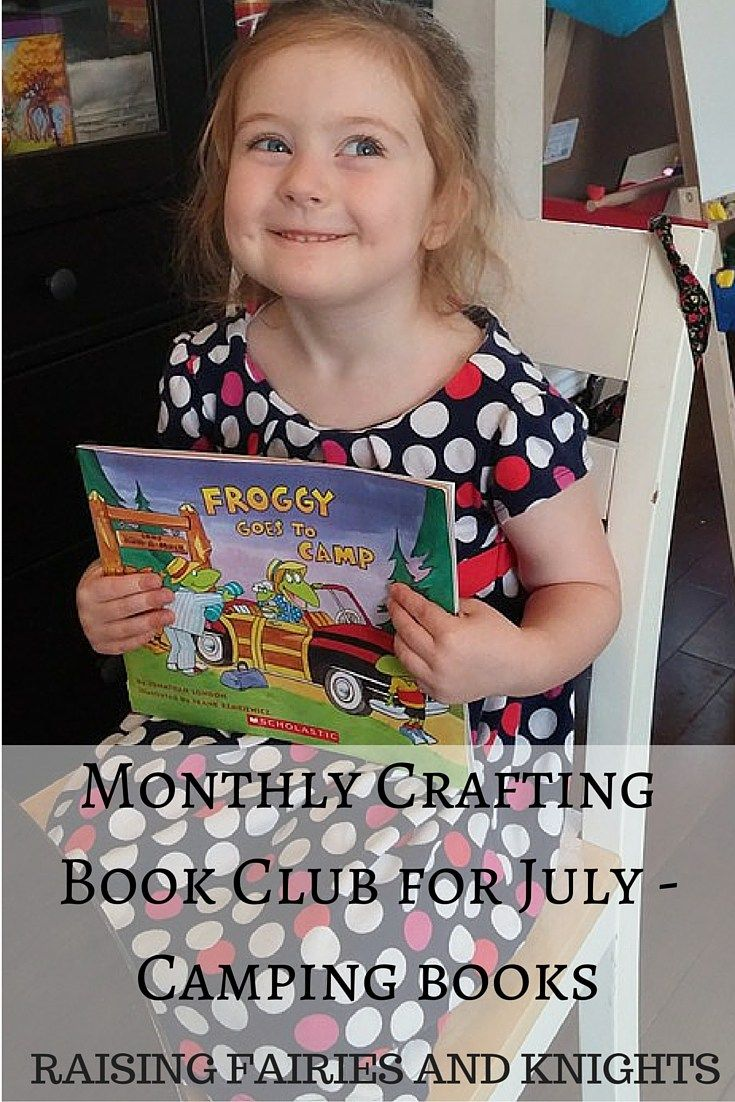 Monthly Crafting Book Club for July - Camping books