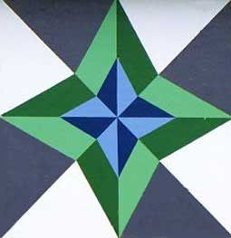 "Paint a Barn Quilt Block ""The North Star"" a Native American Star quilt pattern with Kelly Washburn."