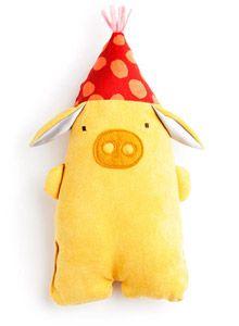 stuffed yellow pig