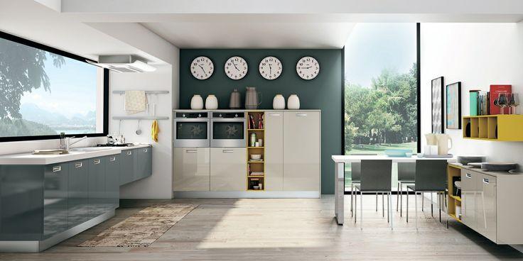 Zoe, uno stile capace di dare carattere all'intera zona giorno. #CREO #kitchens #home #cucina #living #soggiorno