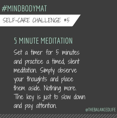 For some reason I feel the need to always be doing something.  I need to do more of this!  #mindbodymat @robinlong
