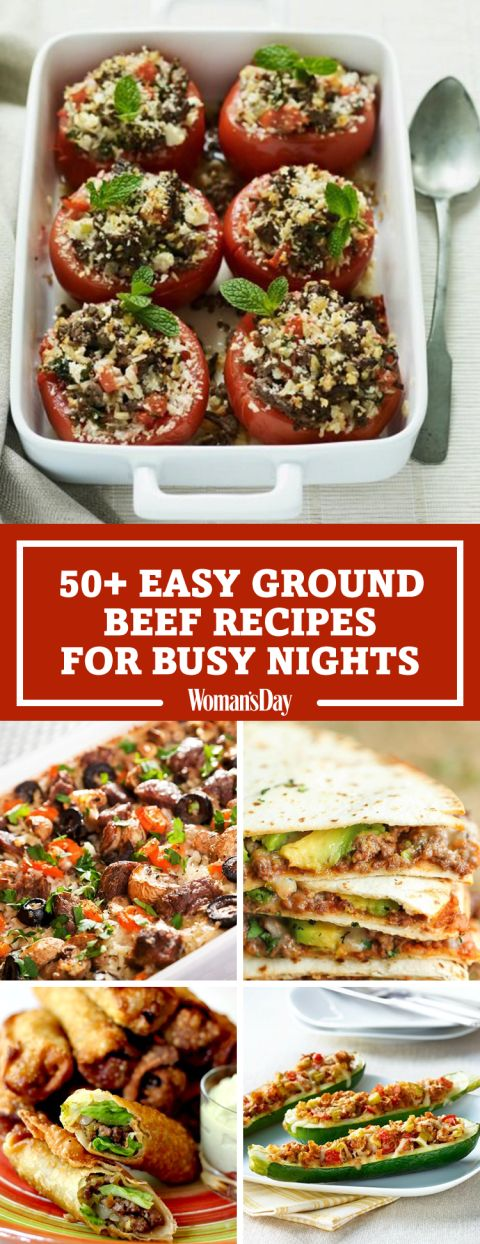 Save these easy ground beef recipe ideasfor later by pinning this image and follow Woman's Day onPinterestfor more.