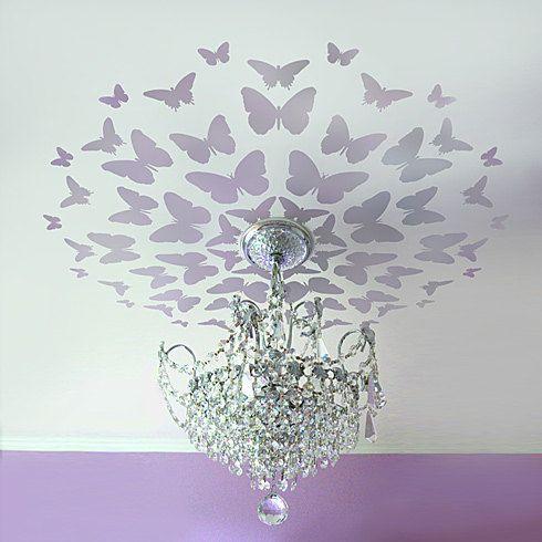 Stencil Butterfly Medallion, Great for Nursery ceiling, Reusable stencils for easy DIY decor. $39.95, via Etsy.