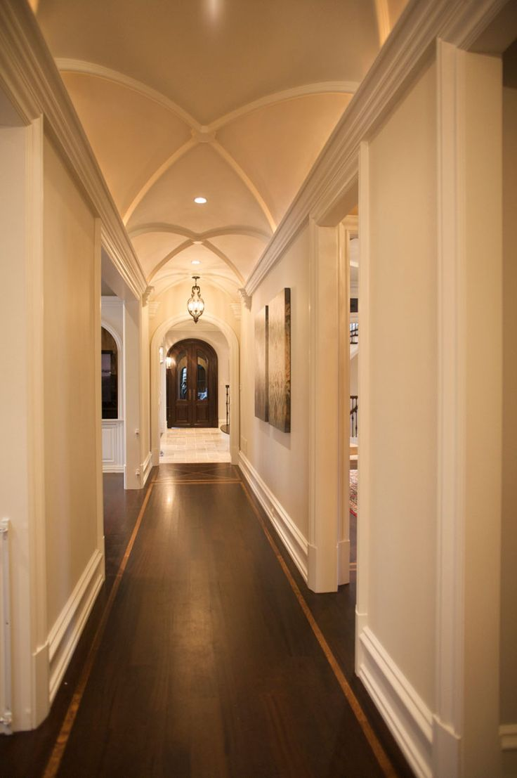 Hallway Barrel Vaulted Cove Lighting Favorite Places