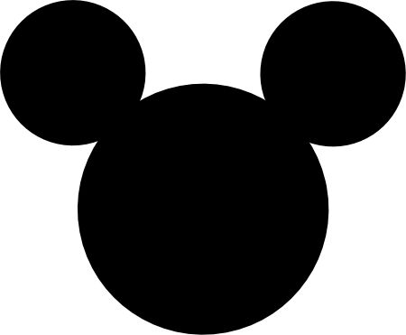 Mickey Mouse head silhouette - Imagui
