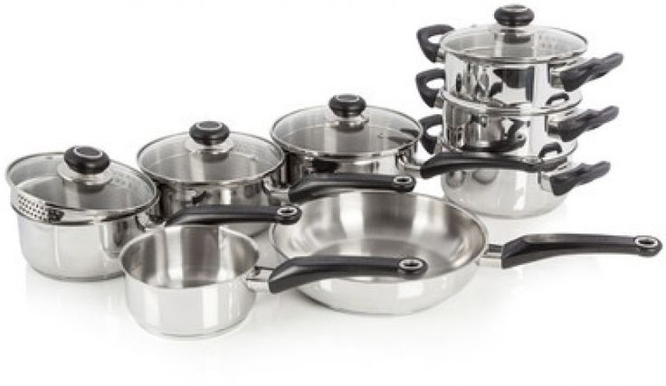 Morphy Richards 8-Piece Stainless Steel Cookware Set Bar Restaurant Diner Food   Make the Best this Budget Gift. Take a look LUXURY HOME BRANDS and Grab this offerNow!