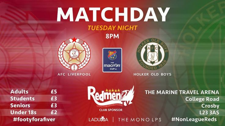 TOMORROW - Macron Cup  Holker Old Boys at the MTA. Up the #NonLeague Reds  #Footyforafiver  #Liverpool