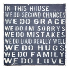 """In This House"" Wall Decor"