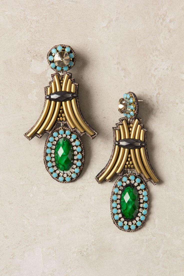 Astoria Drops - Anthropologie.comAccessories Closets, Drop Earrings, Anthropologie Eu, Anthropology Earrings, Astoria Drop, Jewelry Accessories, Statement Earrings, Anthropologie Com, Art Deco