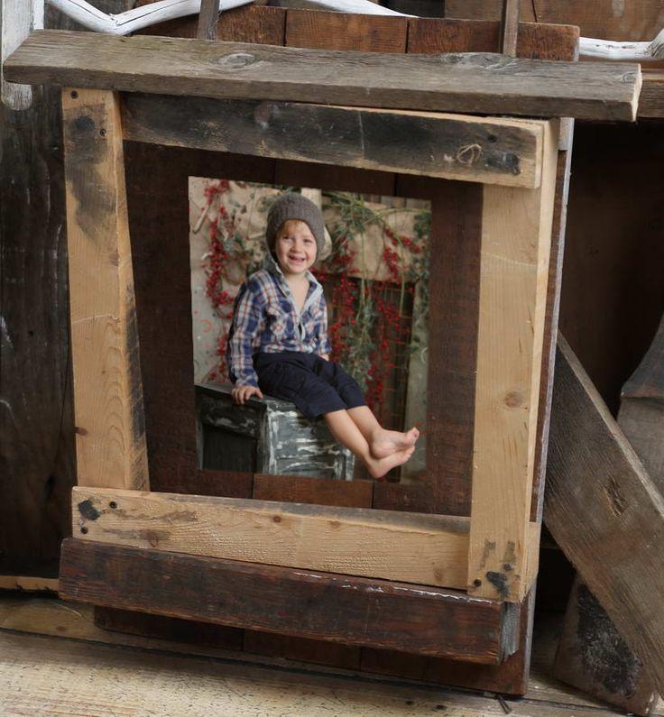Cornice in legno grezzo quadrata Wood frame, Wood, Frame