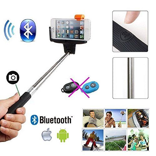 selfie stick monopod with built in bluetooth remote shutter from spl wireless self shooting. Black Bedroom Furniture Sets. Home Design Ideas