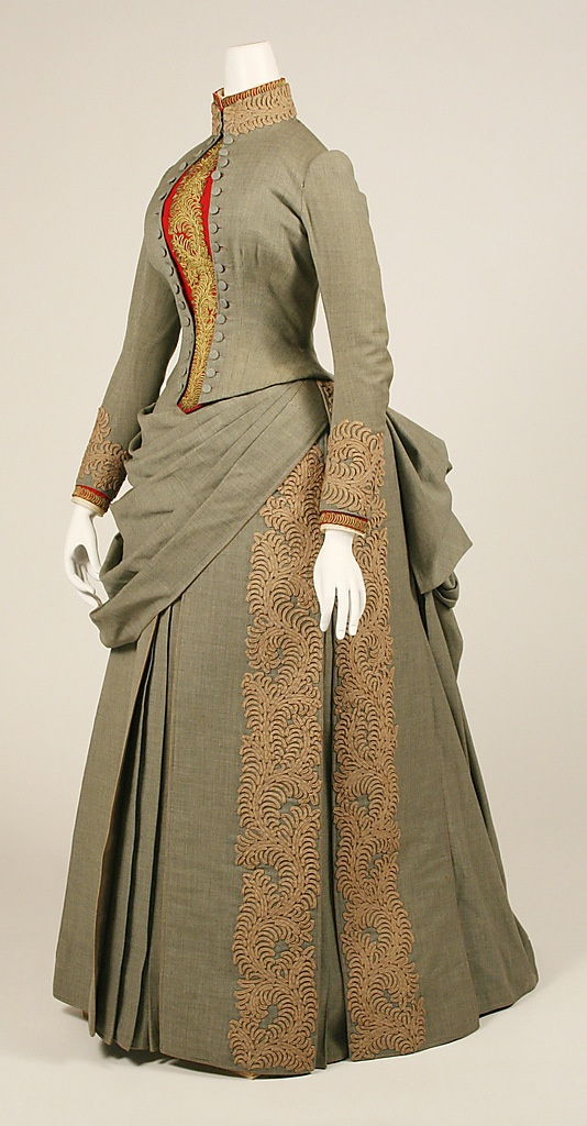 Wedding Ensemble 1887, American, Made of wool