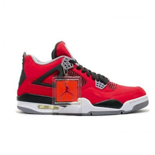 Air Jordan Retro 4 Toro Bravo Fire Red White-Black-Cement Grey $99.20 http://www.theredkicks.com