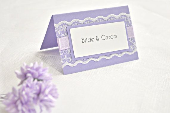 Purple lace wedding place cards, purple wedding place cards, wedding placement cards, lace place cards, purple escort cards, placement cards