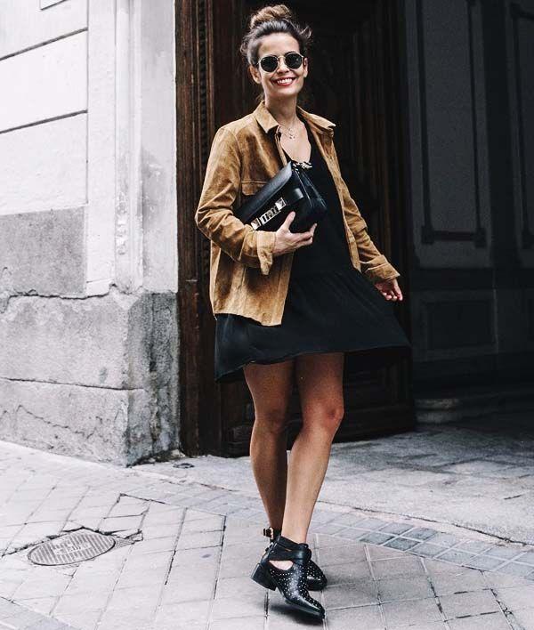 sara escudero look street style jaqueta suede botas