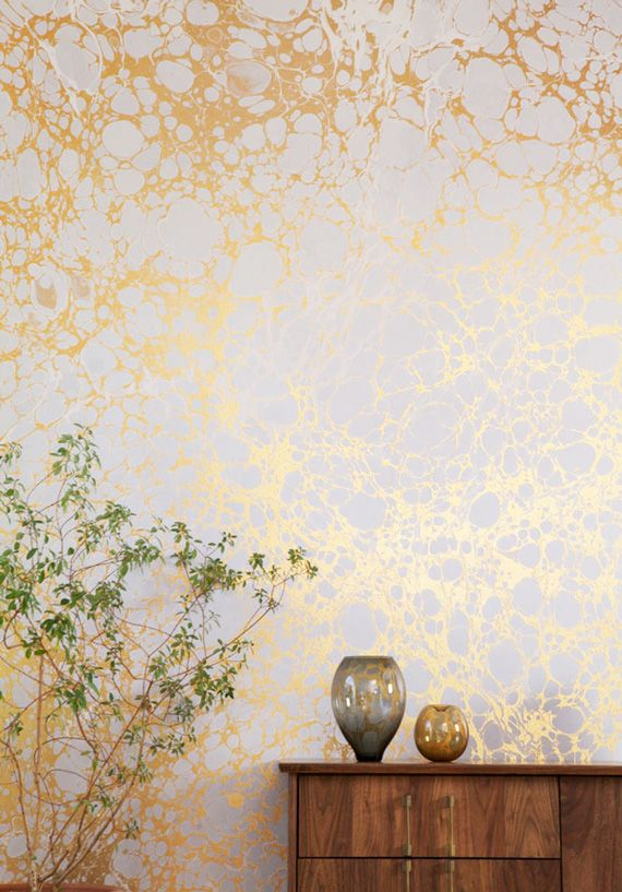 Pin by minted on home decor pinterest wallpaper gold for Wallpaper and decor