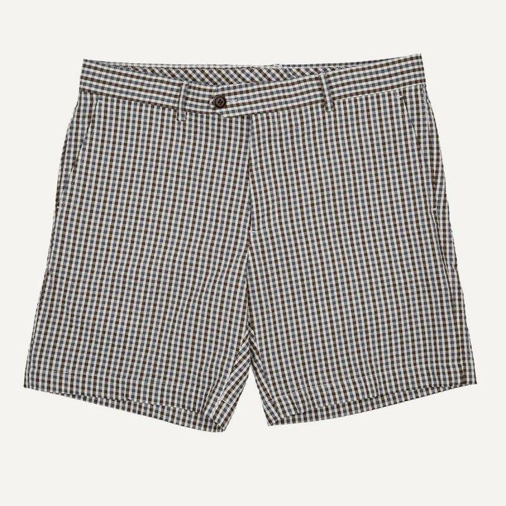 Mini-Gingham Seersucker Shorts | $60 | Frank and Oak