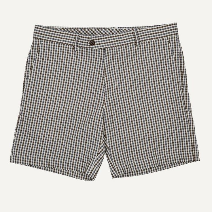 Mini-Gingham Seersucker Shorts | $60 | Frank and Oak