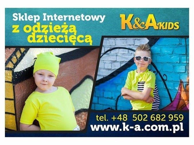 Witam!  Zapraszam do odwiedzenia Sklepu Internetowego z odzieżą dziecięca.www.k-a.com.pl Sportowa Elegancja i Designerski Styl.Dla Dzieci w wieku od 2 do 10 lat.  Serdecznie zapraszam!