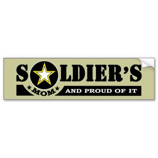 Soldiers mom and proud of it bumber bumper sticker
