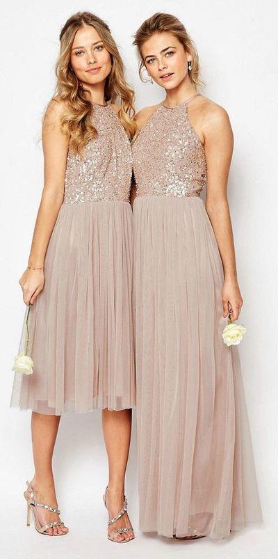 Sequin bridesmaid dress, Halter bridesmaid dress,Custom bridesmaid dress,cheap bridesmaid dress,BDS00001