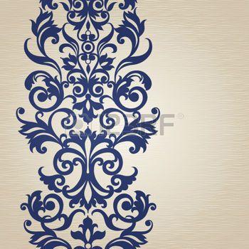 ISLAMIC BORDER: Vector sin frontera en estilo victoriano. Elemento para el diseño. Lugar para el texto. Puede ser utilizado para la decoración de las invitaciones de boda, tarjetas de felicitación, decoración de bolsas y ropa.