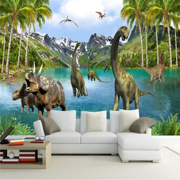 beibehang Photo 3D Wallpaper Stereo Jurassic dinosaurs Great Wall  bed room sofa wallpaper silver flash cloth  papel de parede #Affiliate