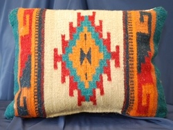 Southwest Zapotec Pillows -Hand Woven Love the Native American patterns, always have.