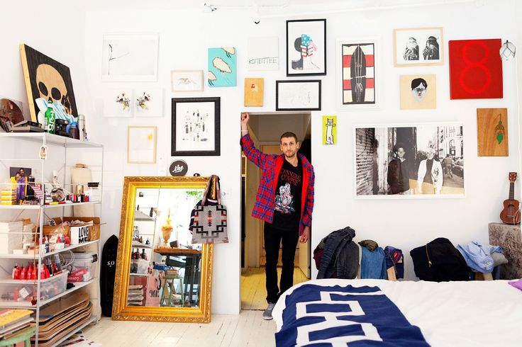 Curtis Kulig's home in NYC. Now this guy has some style, what a fresh apartment.: Wall Art, Artists Studios, Spaces, Art Studios, Kulig Aka, Interiors, New York Apartment, Curtis Sleigh Ride, Art Rooms