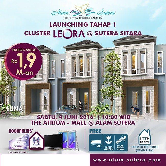Launching tahap 1 Cluster LEORA Alam Sutera. #leoraalamsutera
