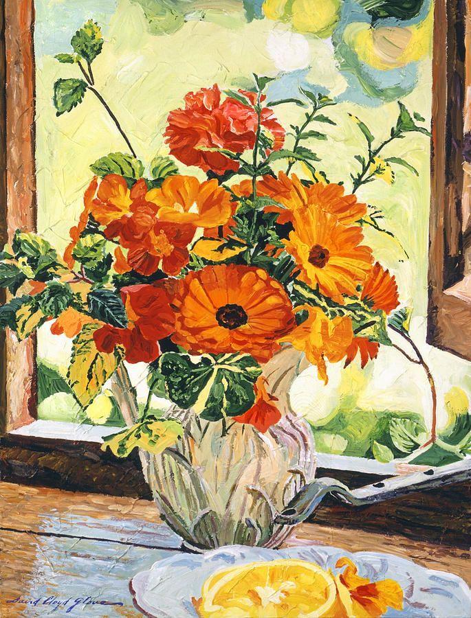 David Lloyd Glover (b.1949) —  Summer House Still Life, 2014  (685x900)