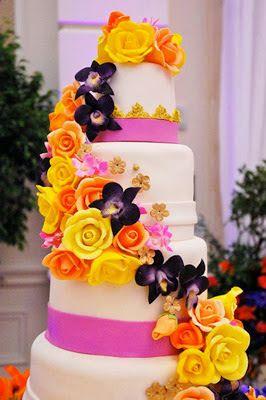 Tarta con decoración floral de colores #cumpleanos #feliz_cumpleanos #felicidades #happy_birthday #tarta_cumpleanos #pastel_cumpleanos #birthday_cake