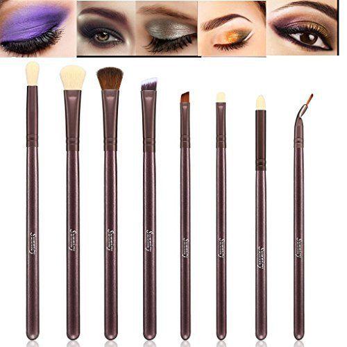 Kit de Pinceau maquillage Professionnel 10 PCS Ombre à Paupière Doré Blush Fondation Pinceau Poudre Fond de teint Anti-cerne Kit Pinceaux…