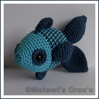 Crochet fish. Instructions in dutch.