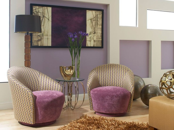 Petite Purple Swivel Chair By Hightower Furniture