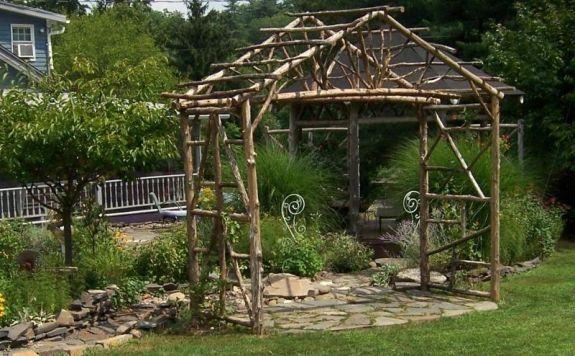 Dekorative Rustik Pergola Design Garten