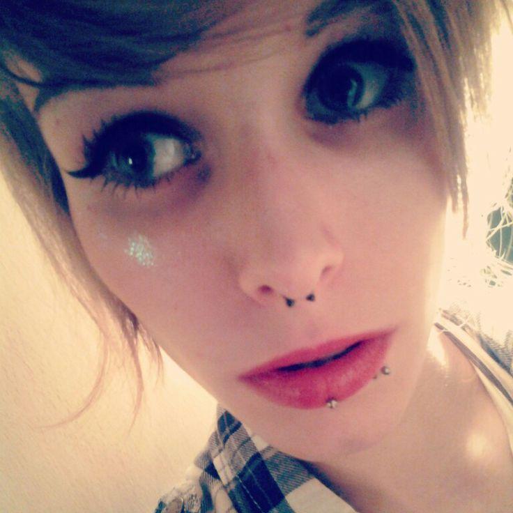 Eyes like a doll.