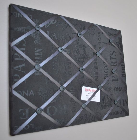 Anthracite grey French memo board by MemoBoardsNMore on Etsy