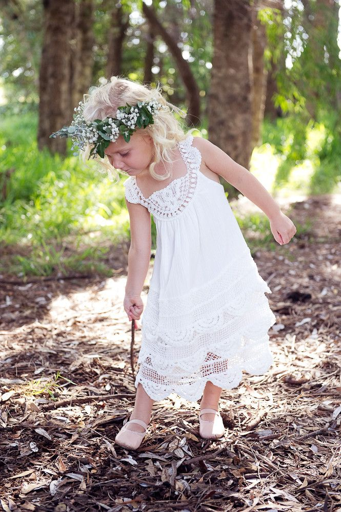 Enchanted Garden Dress Boho flower girl dress