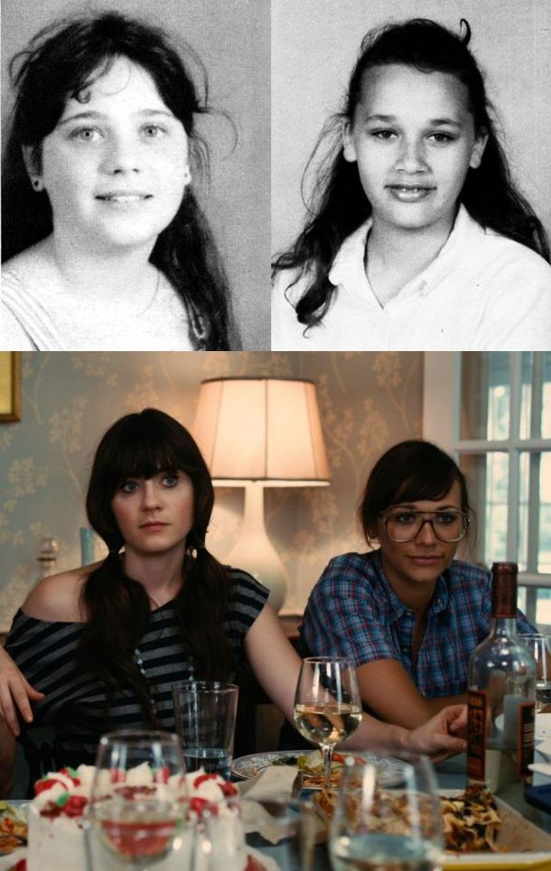 Everyone had an awkward phase. Even Zooey and Rashida. - This is hope for all those 13 year old girls out there! Hahah...they should hang this in middle school ladies' rooms!