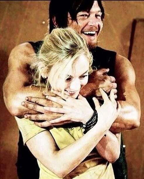 Daryl and Beth. I understand why this is not a popular ship with the huge age gap and what not, but you're lying if you think this isnt cute.
