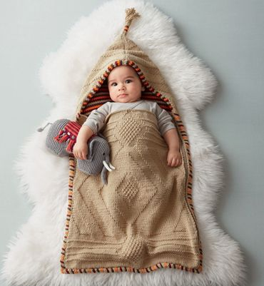 a papoose! baby snuggle blanket. for the Tiger Lilly section of the Peter Pan nursery.  the site's in french though...I think I could order in french!