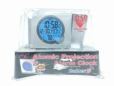 Sky Scan La Crosse Technology Atomic Projection Alarm clock, New