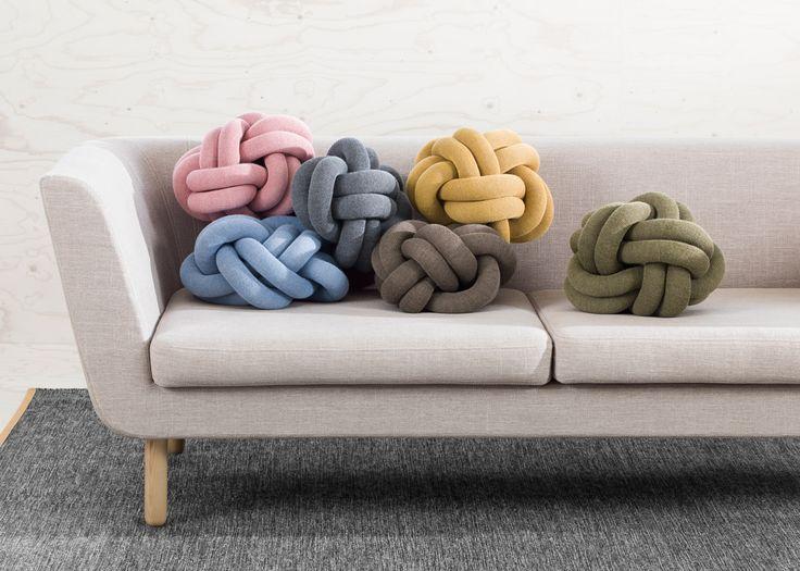 Knot cushion Icelandic Design Swedish design house production