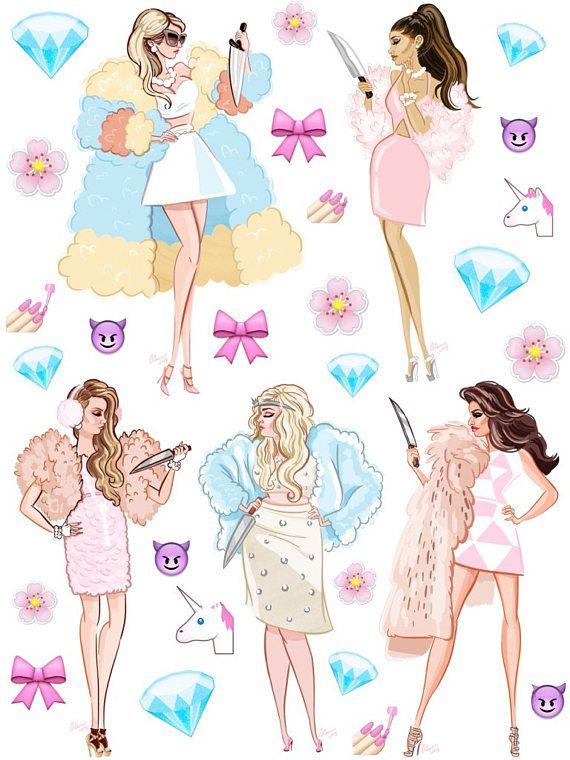 Tumblr sticker sheet  Scream Queens  Planner Stickers