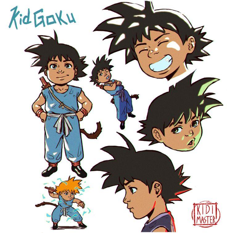 ArtStation - Kid Goku Combo Doodles, Euclides 'KidiMaster' Gomes