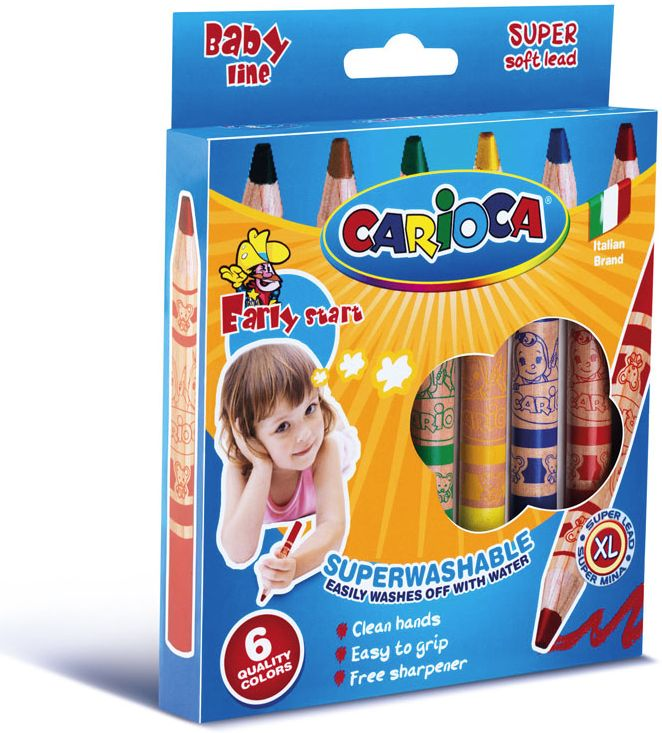 Creioane cerate de la Carioca sunt perfecte pentru mânuțele copilului tău! Sunt ușor de ținut în mână și se ascut cu un minim de efort.