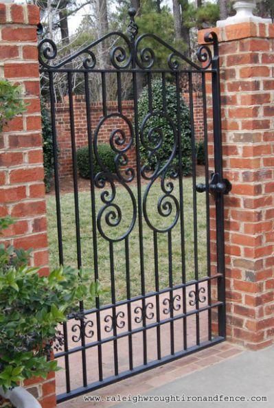 FENCE GATE IRON IRON ORNAMENTAL