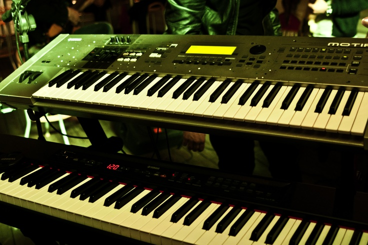 My two keyboards: digital piano and synth