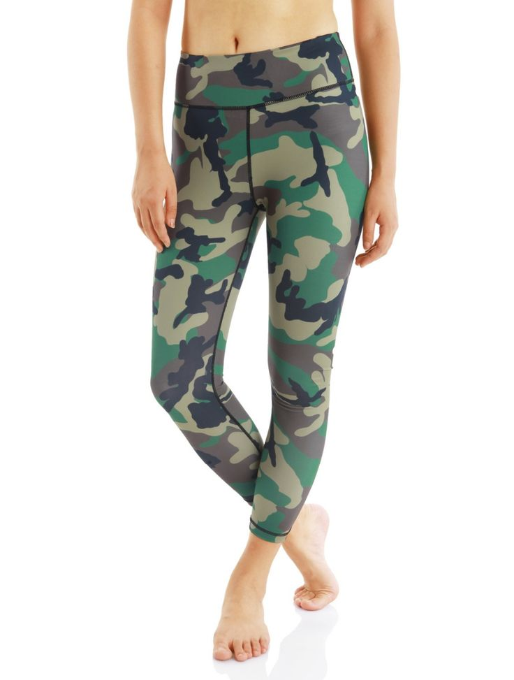 Women's New Yoga Pants Camouflage Printed Fitness High Elastic Leggings Tights Running Sports Pants Stretched Gym Sportswear #Affiliate